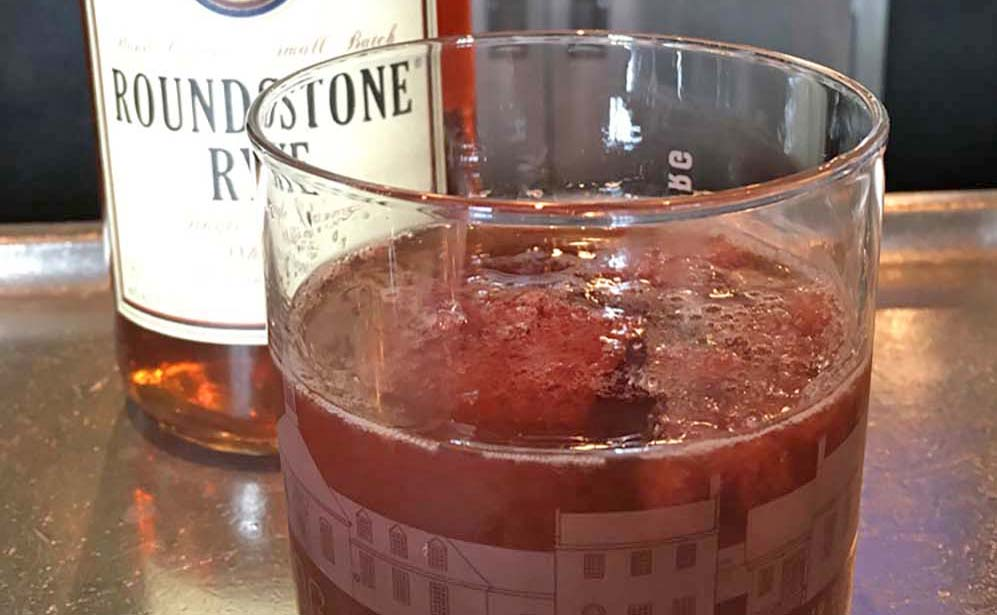 Classic Manhattan with Cherry Ice